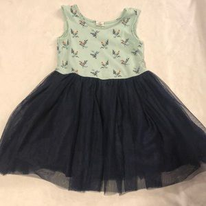 Baby gap tank top dress with layered tulle skirt